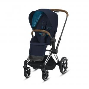 Wózek spacerowy Cybex Priam 2.0 Nautical Blue Chrome Brown