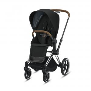 Wózek spacerowy Cybex Priam 2.0 Deep Black Chrome Brown