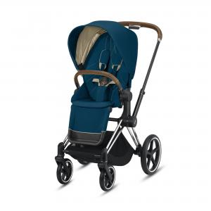 Wózek spacerowy Cybex Priam 2.0 Mountain Blue Chrome Brown