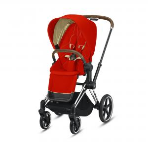 Wózek spacerowy Cybex Priam 2.0 Autumn Gold Chrome Brown