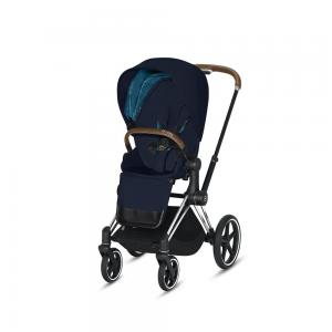 Wózek spacerowy Cybex Priam 2.0 PLUS Midnight Blue Chrome Brown