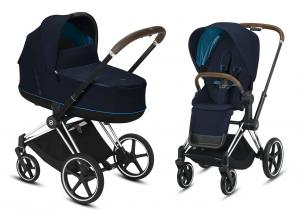Wózek wielofunkcyjny 2w1 Cybex Priam 2.0 Nautical Blue Chrome Brown