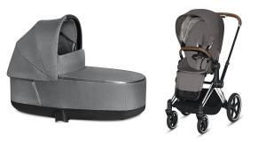 Wózek 2w1 Cybex Priam 2.0 PLUS Manhattan Grey Chrome Brown