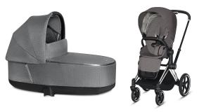 Wózek 2w1 Cybex Priam 2.0 PLUS Manhattan Grey Chrome Black
