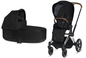 Wózek 2w1 Cybex Priam 2.0 PLUS Stardust Black Chrome Brown