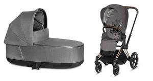 Wózek 2w1 Cybex Priam 2.0 PLUS Manhattan Grey Rosegold