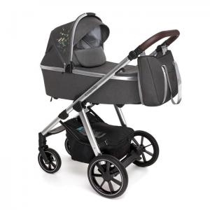 Wózek głęboko spacerowy | Baby Design BUENO | 117 Graphite Meadow